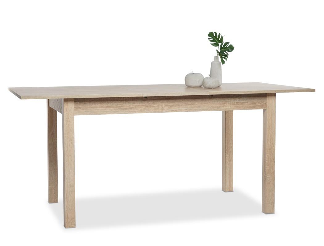 esstisch eiche sonoma 120 160 x70 cm speisetisch auszugstisch tisch cottbus ebay. Black Bedroom Furniture Sets. Home Design Ideas
