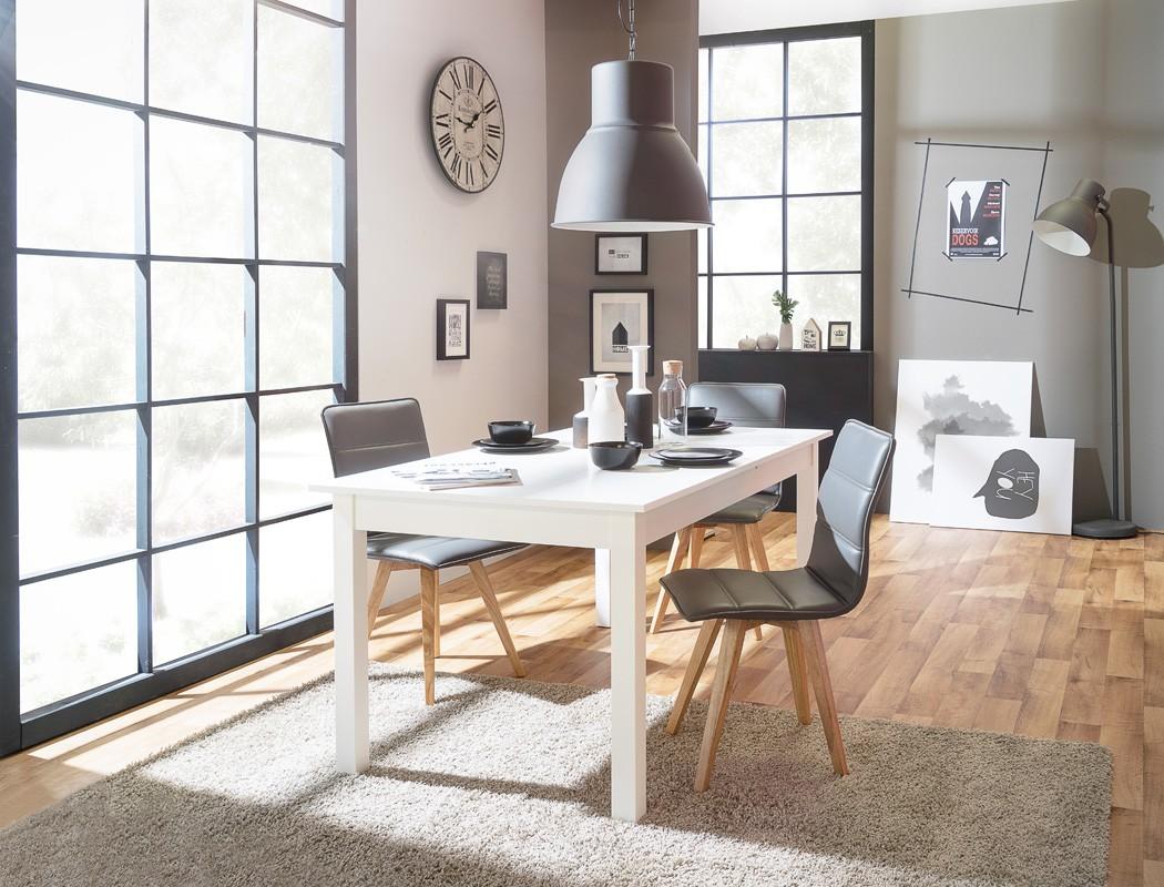esstisch wei 120 160 x70 cm speisetisch auszugstisch k chentisch cottbus 4251177630491 ebay. Black Bedroom Furniture Sets. Home Design Ideas