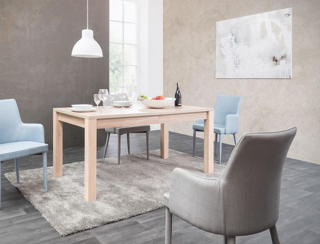 esstisch siegmund eiche sonoma 160 200 240 x90 cm auszugstisch tisch wohnbereiche esszimmer. Black Bedroom Furniture Sets. Home Design Ideas