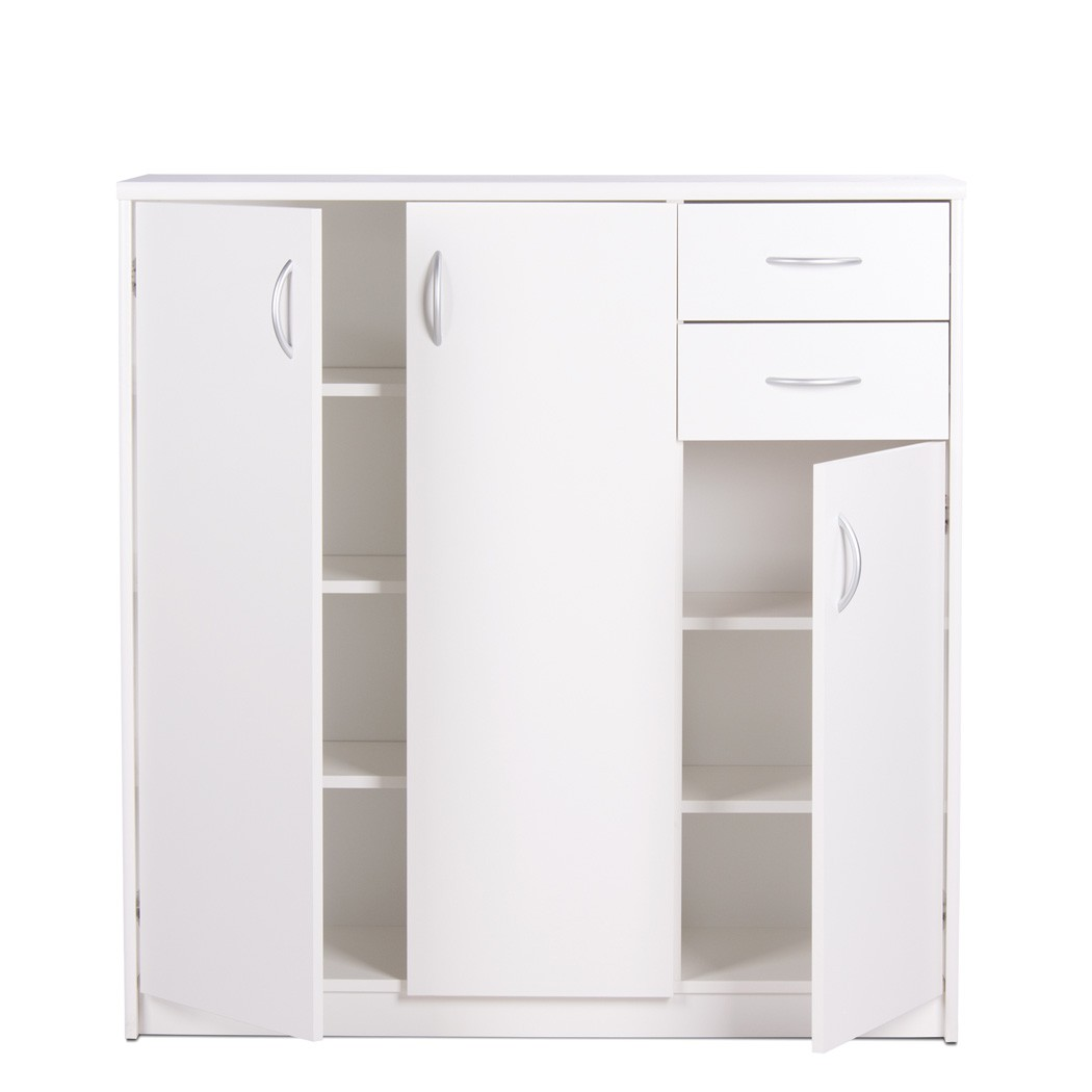 Highboard koblenz 1 wei 109x111x35 cm schrank wohnzimmer for Schrank esszimmer