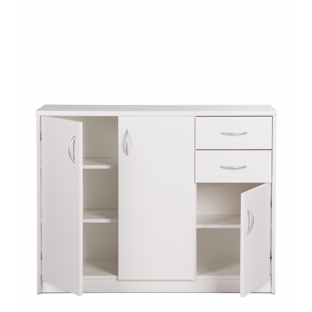 sideboard wei 109x85x35 cm anrichte schrank wohnzimmer esszimmer koblenz 2 ebay. Black Bedroom Furniture Sets. Home Design Ideas
