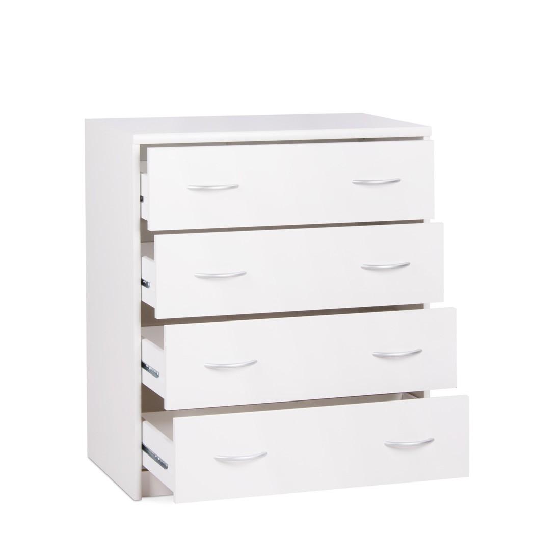 schubkastenkommode koblenz 4 wei 74x85x45 cm kommode schrank wohnbereiche schlafzimmer kommoden. Black Bedroom Furniture Sets. Home Design Ideas