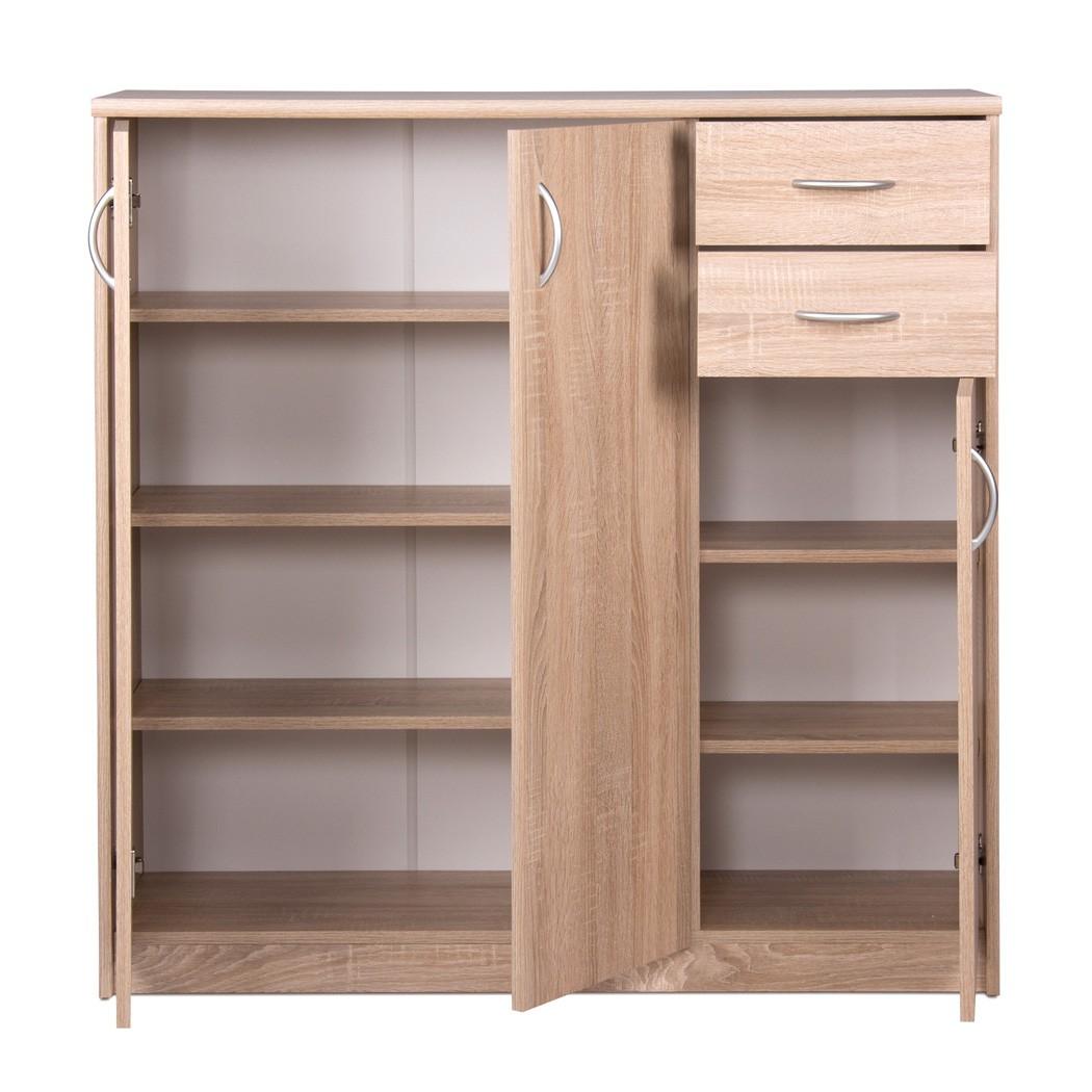 highboard koblenz 1 eiche sonoma 109x111x35 cm schrank. Black Bedroom Furniture Sets. Home Design Ideas