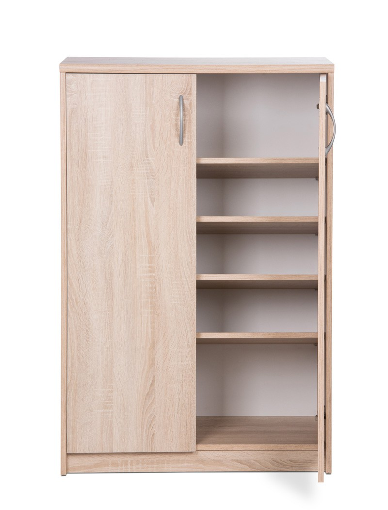 schuhschrank eiche sonoma 74x111x39 cm dielenschrank garderobe koblenz 7 4251177631245 ebay. Black Bedroom Furniture Sets. Home Design Ideas