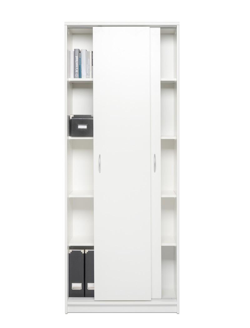 schiebet renschrank koblenz 14 wei 74x188x39 cm aktenschrank schrank wohnbereiche wohnzimmer. Black Bedroom Furniture Sets. Home Design Ideas