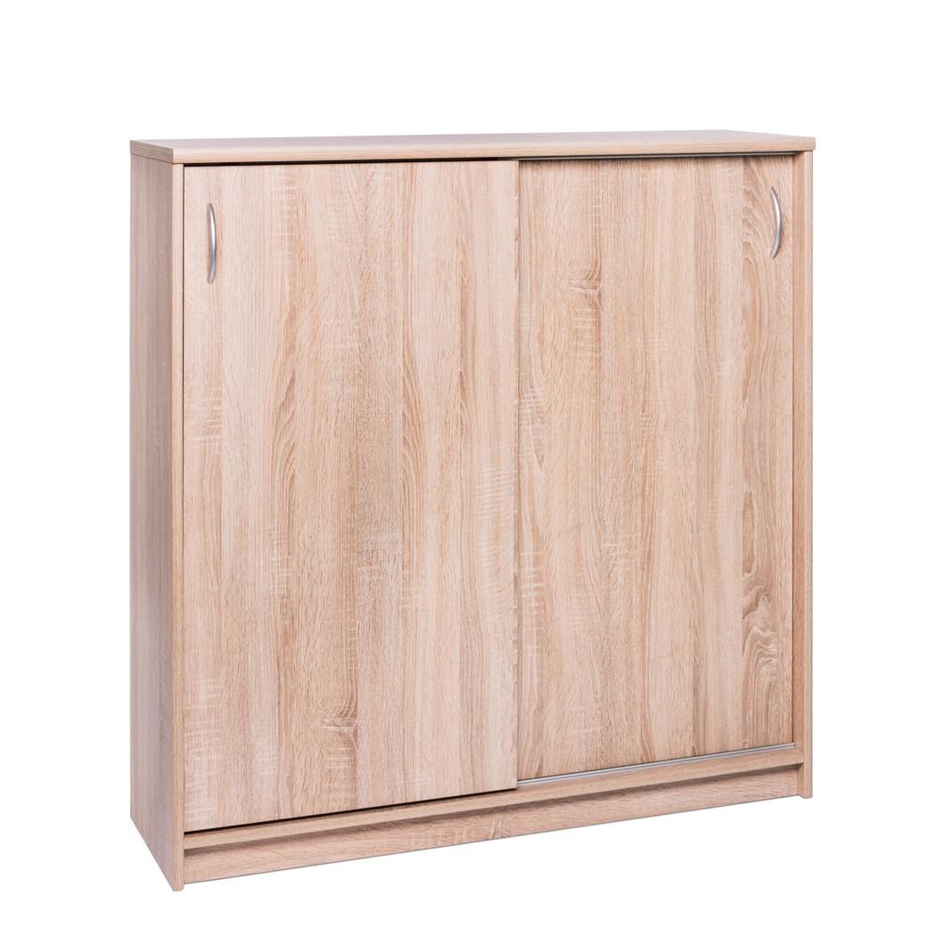 schiebet renschrank koblenz 17 eiche sonoma 109x111x39 cm. Black Bedroom Furniture Sets. Home Design Ideas
