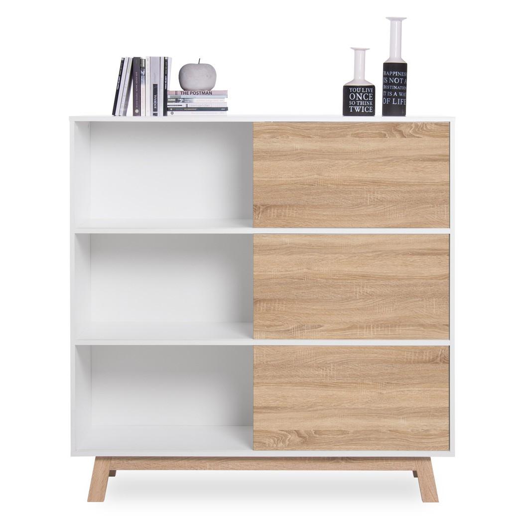 regal wei 120x122x40 cm b cherregal standregal wandregal. Black Bedroom Furniture Sets. Home Design Ideas