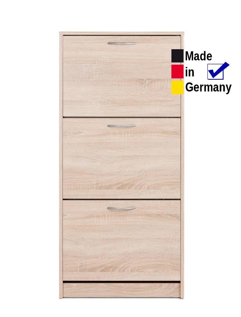 schuhschrank eiche sonoma 58x124x25 cm schuhkipper. Black Bedroom Furniture Sets. Home Design Ideas