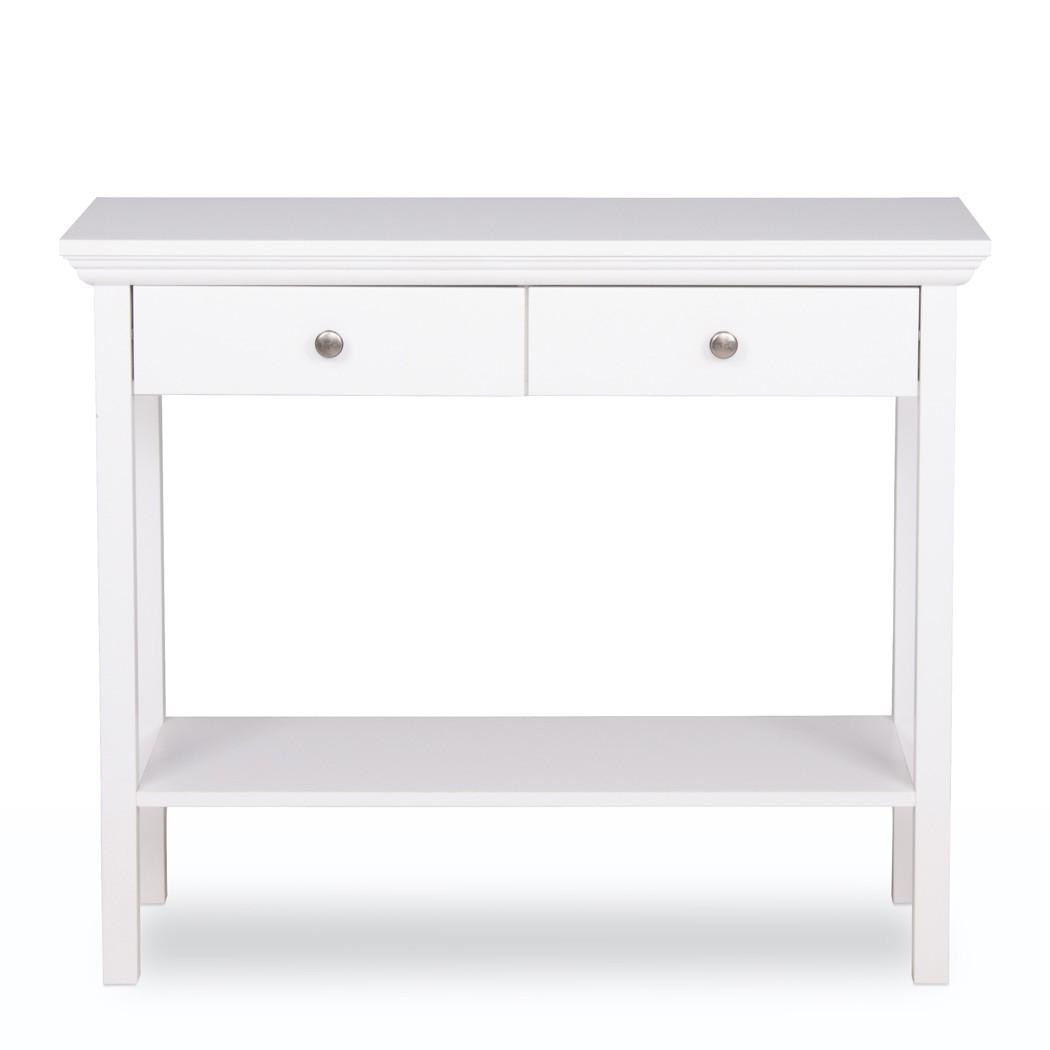 Konsole weiß 90x75x35 cm Konsolentisch Garderobe Landhausmöbel ...