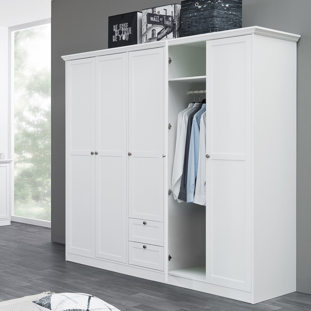 kleiderschrank wei 190x200x67 cm dreht renschrank schrank landstr m 19 ebay. Black Bedroom Furniture Sets. Home Design Ideas