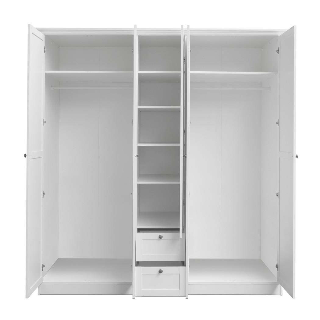 kleiderschrank landstr m 19 wei 190x200x67cm. Black Bedroom Furniture Sets. Home Design Ideas