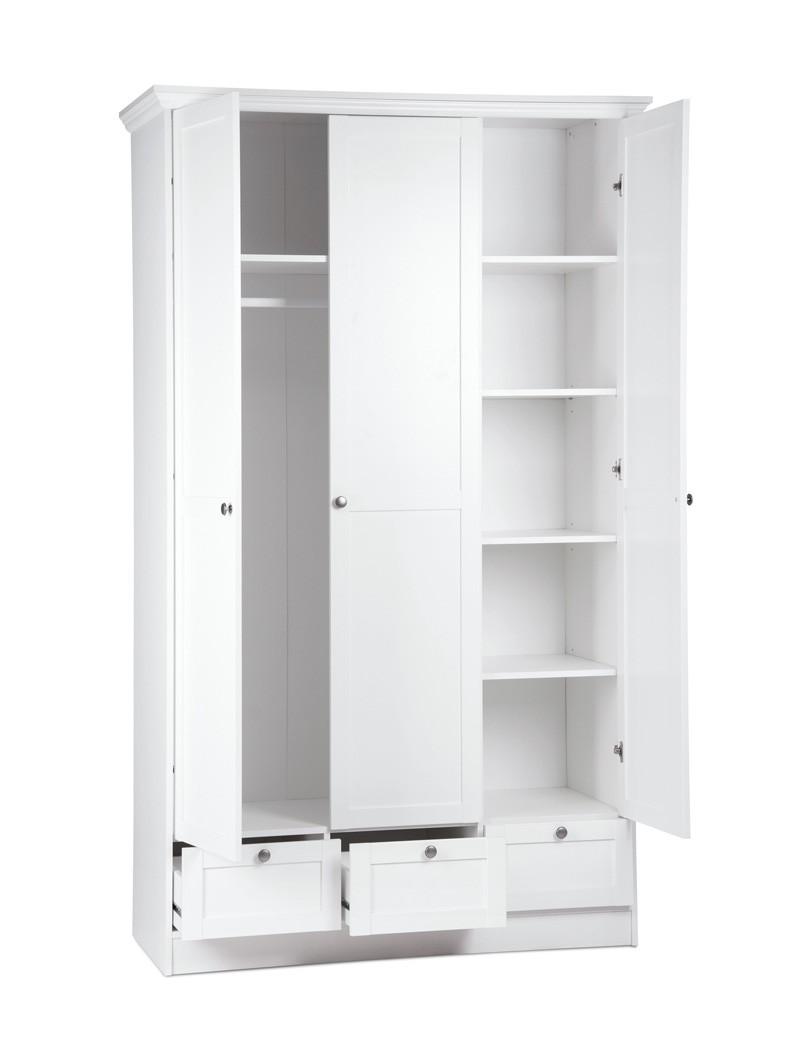 jugendzimmer wei 3 teilig bett 90x200 schrank nachttisch landstr m 161 ebay. Black Bedroom Furniture Sets. Home Design Ideas