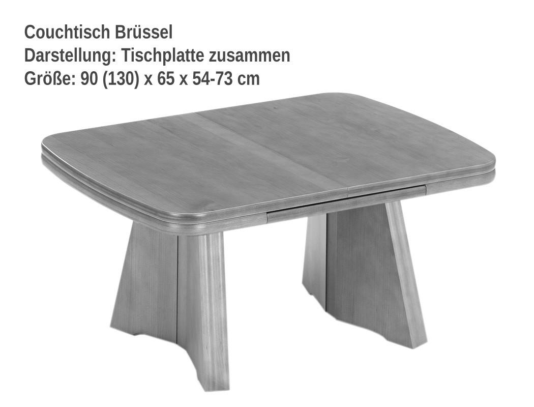 couchtisch br ssel 90 130 x65 h henverstellbar 54 73 cm eiche rustikal wohnbereiche wohnzimmer. Black Bedroom Furniture Sets. Home Design Ideas