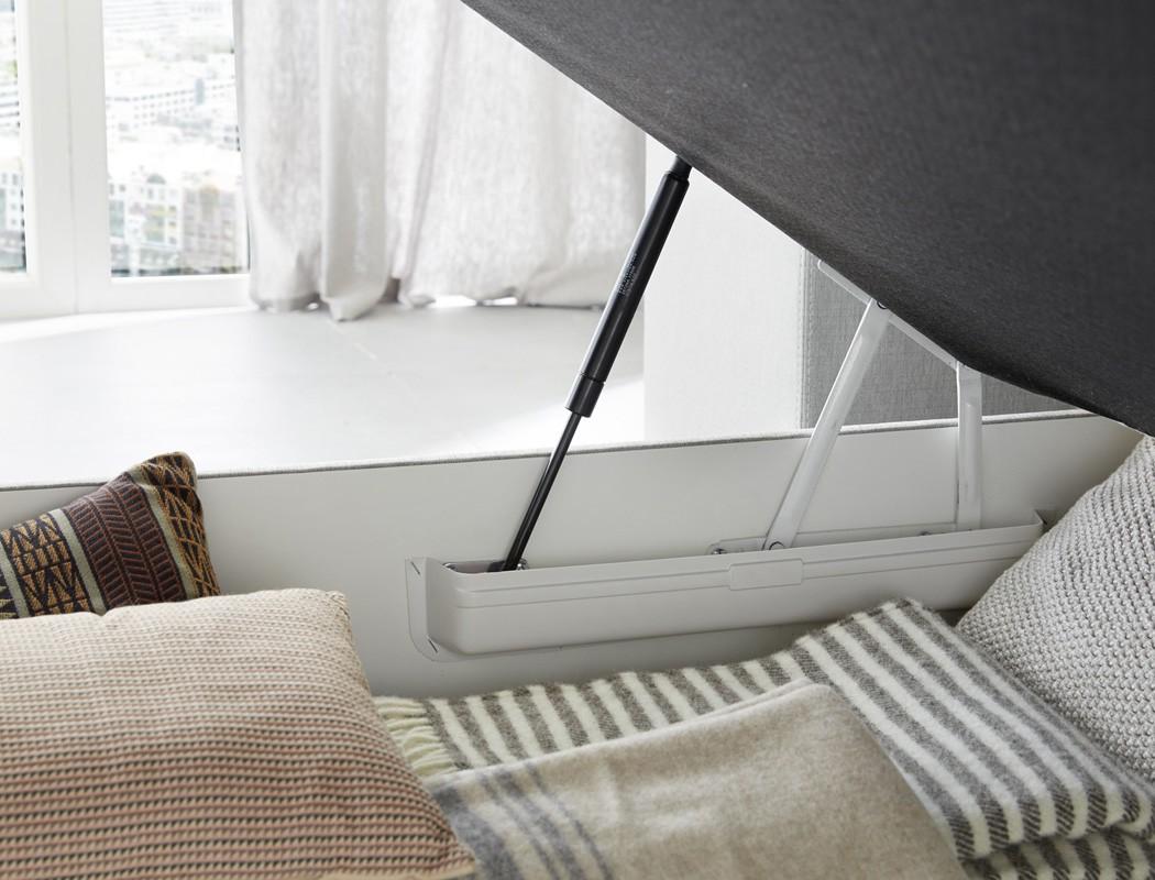 boxspringbett amalina 140x200 braun mit bettkasten topper. Black Bedroom Furniture Sets. Home Design Ideas