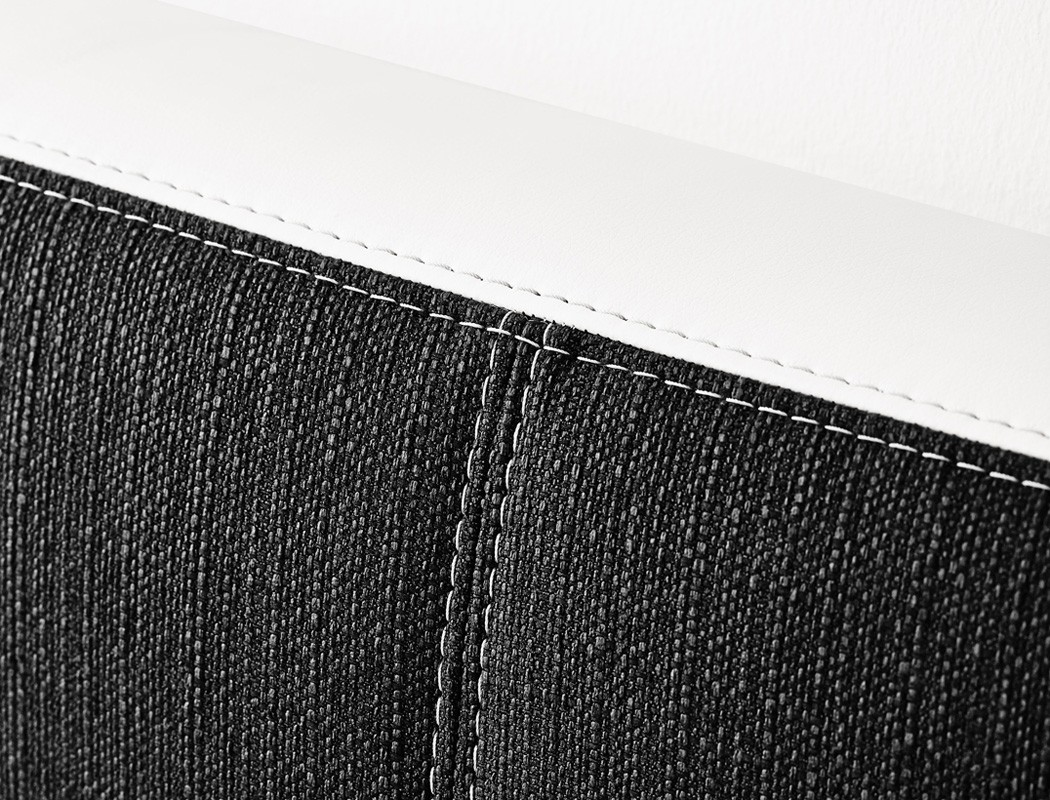 boxspringbett tiana 180x200 grau schwarz mit topper kissen. Black Bedroom Furniture Sets. Home Design Ideas