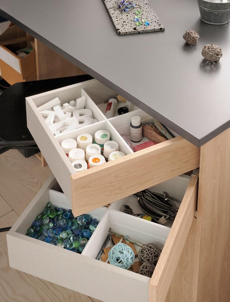 Schreibtisch brooklyn eiche grau 126x90x65 cm basteltisch for Schreibtisch 90 x 180
