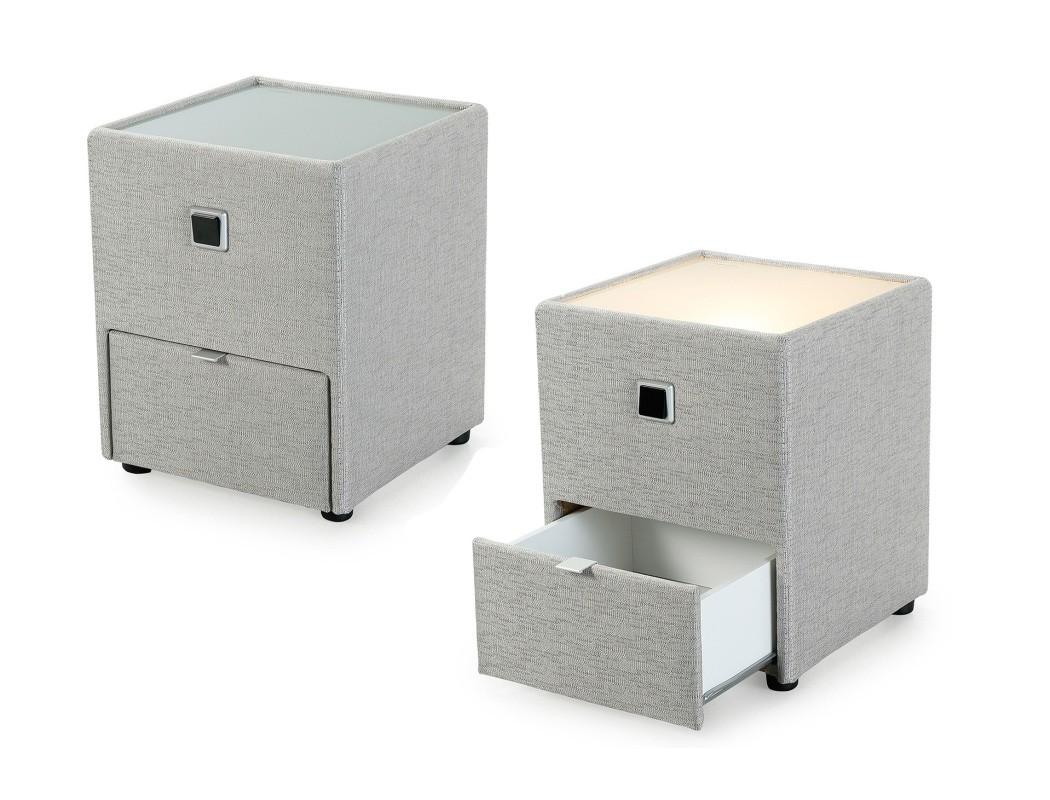 nachttisch leya 43x53x45 cm varianten nachtkonsole mit beleuchtung wohnbereiche schlafzimmer. Black Bedroom Furniture Sets. Home Design Ideas