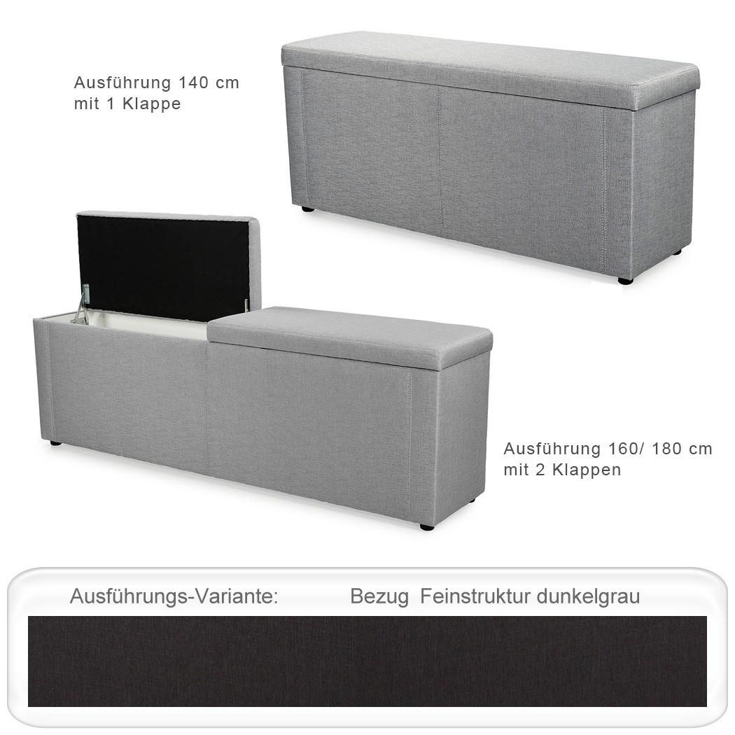 Truhenbank ruth varianten 140cm 160cm 180cm polsterbank w schetruhe wohnbereiche schlafzimmer - Polsterbank schlafzimmer ...