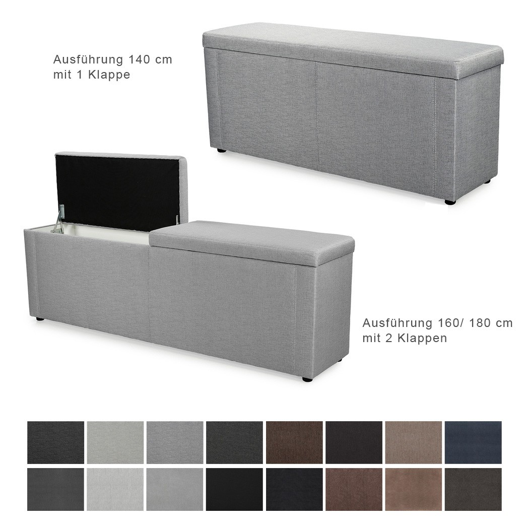 truhenbank ruth varianten 140cm 160cm 180cm polsterbank sitzbank w schetruhe ebay. Black Bedroom Furniture Sets. Home Design Ideas