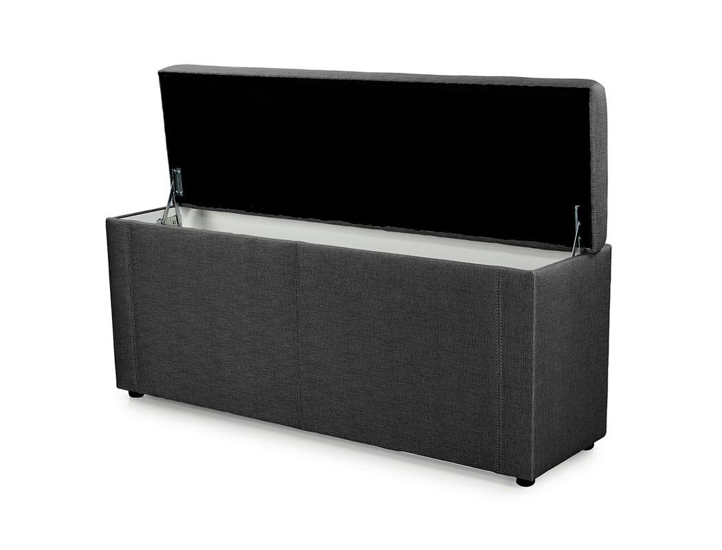 truhenbank ruth schwarz 140cm 160cm 180cm polsterbank sitzbank w schetruhe truhe ebay. Black Bedroom Furniture Sets. Home Design Ideas