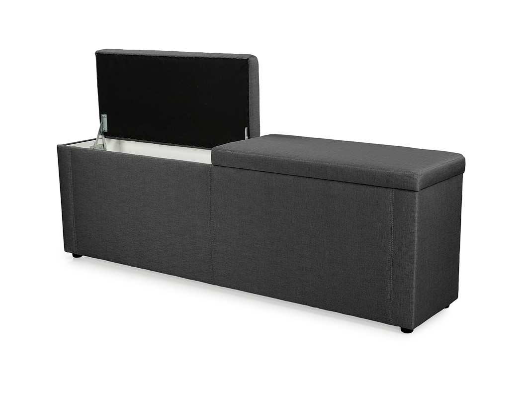 truhenbank ruth schwarz 140cm 160cm 180cm polsterbank. Black Bedroom Furniture Sets. Home Design Ideas
