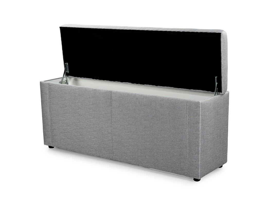 truhenbank ruth grau 140cm 160cm 180cm polsterbank sitzbank w schetruhe truhe ebay. Black Bedroom Furniture Sets. Home Design Ideas