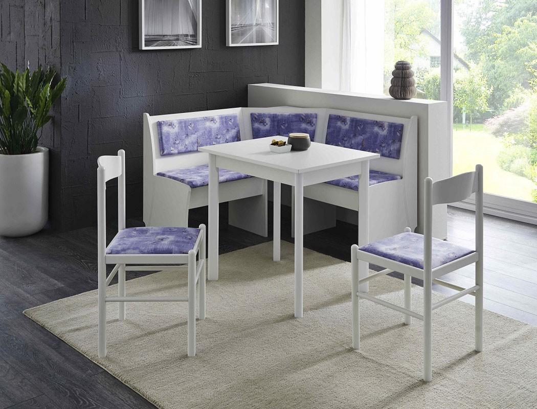 eckbankgruppe babsi 3 wei 2x stuhl vierfu tisch. Black Bedroom Furniture Sets. Home Design Ideas