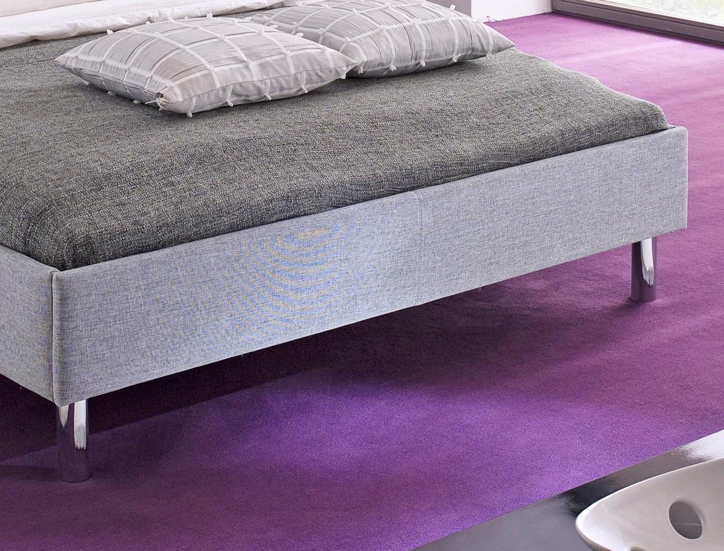 polsterbett holger 140x200 grau singlebett jugendbett bettgestell futonbett bett ebay. Black Bedroom Furniture Sets. Home Design Ideas