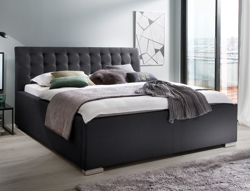 polsterbett mit bettkasten larissa kopfteil gesteppt. Black Bedroom Furniture Sets. Home Design Ideas