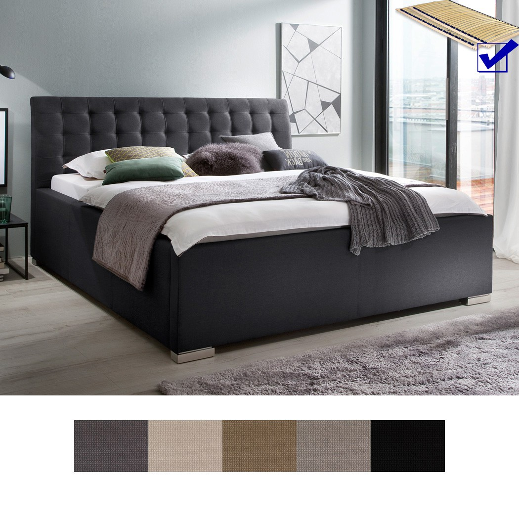 polsterbett mit bettkasten larissa kopfteil gesteppt varianten rost wohnbereiche schlafzimmer. Black Bedroom Furniture Sets. Home Design Ideas