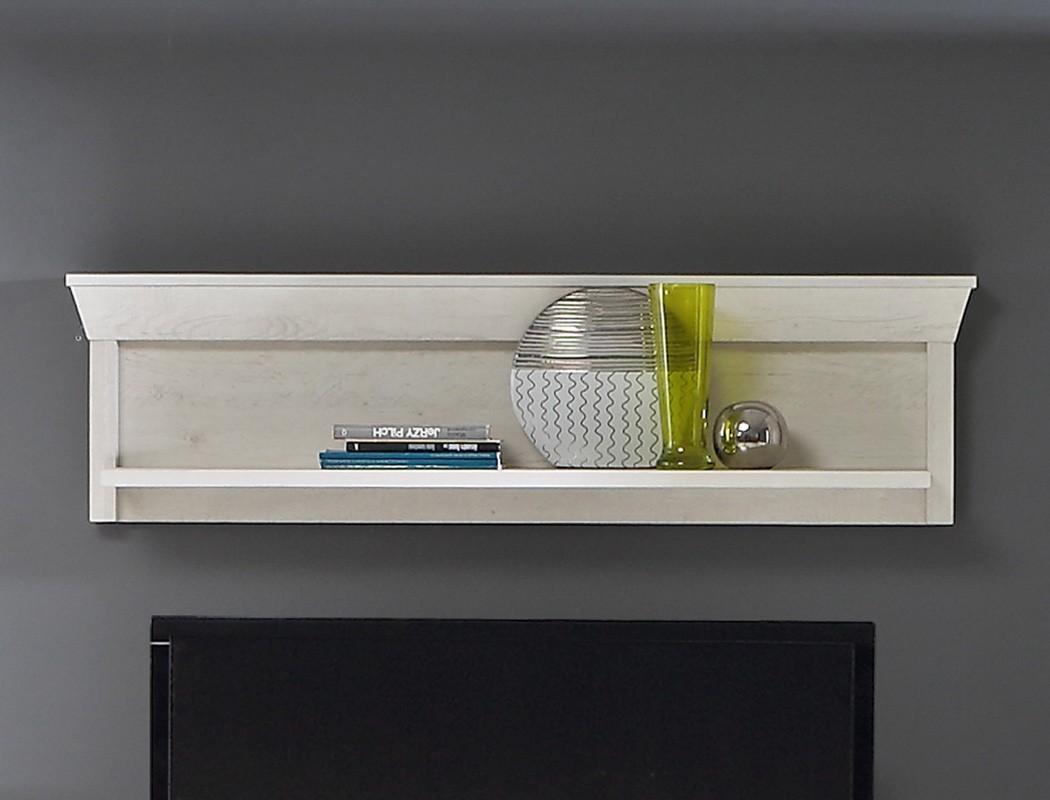 wandpaneel kasimir 8 pinie wei 121x34x24 cm wandboard wandregal regal wohnbereiche wohnzimmer. Black Bedroom Furniture Sets. Home Design Ideas