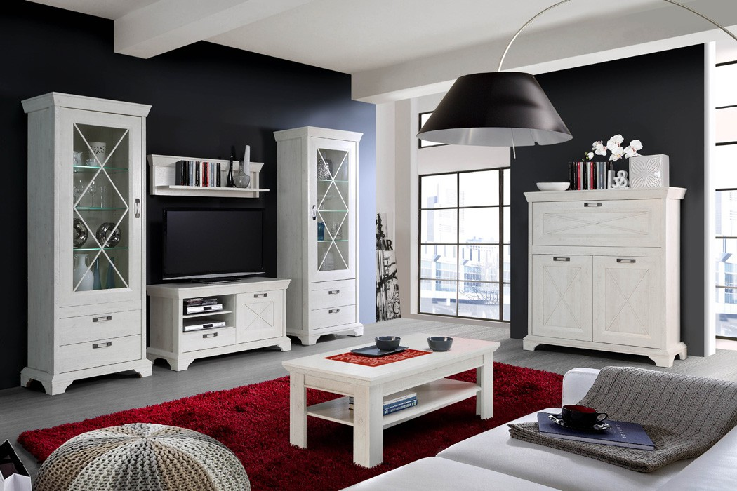 wandpaneel kasimir 8 pinie wei 121x34x24 cm wandboard wandregal regal wohnbereiche wohnzimmer. Black Bedroom Furniture Sets. Home Design Ideas