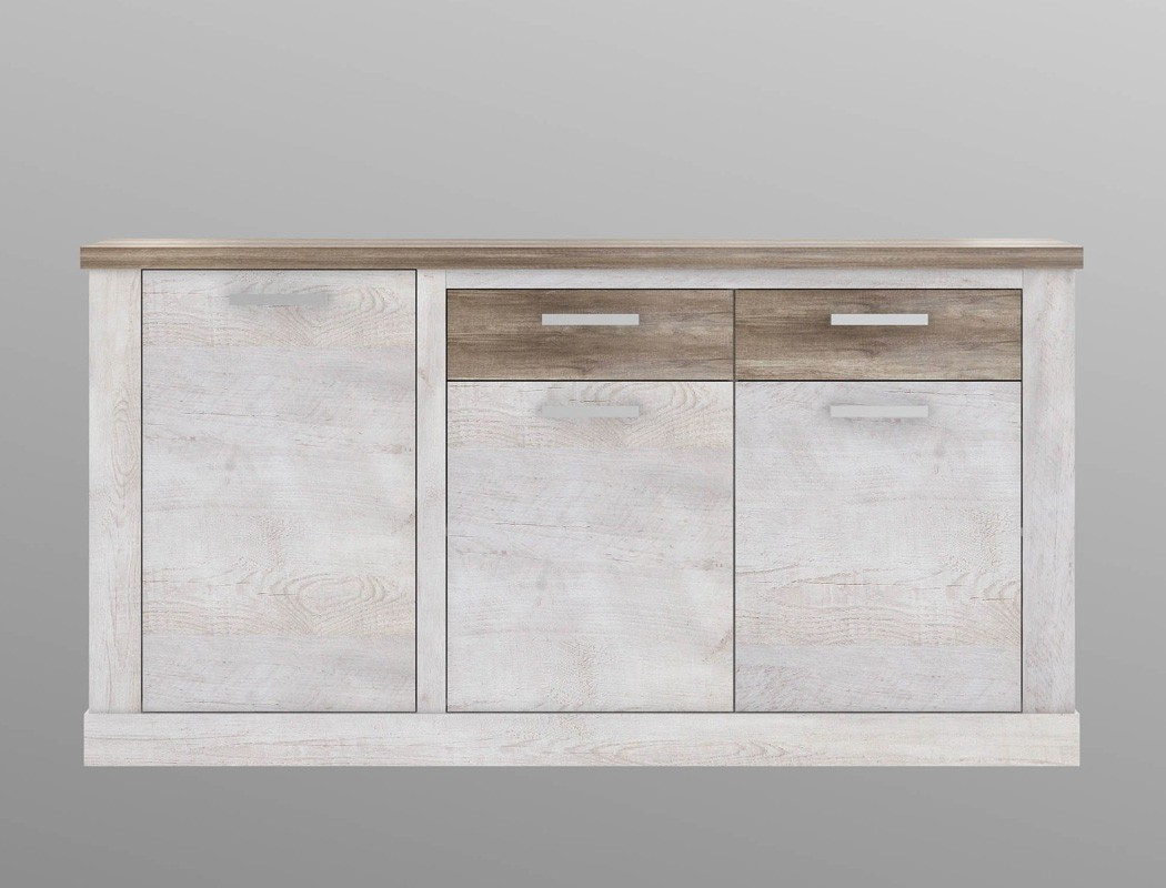 sideboard durio 1 pinie wei 174x90x41 cm anrichte schrank. Black Bedroom Furniture Sets. Home Design Ideas