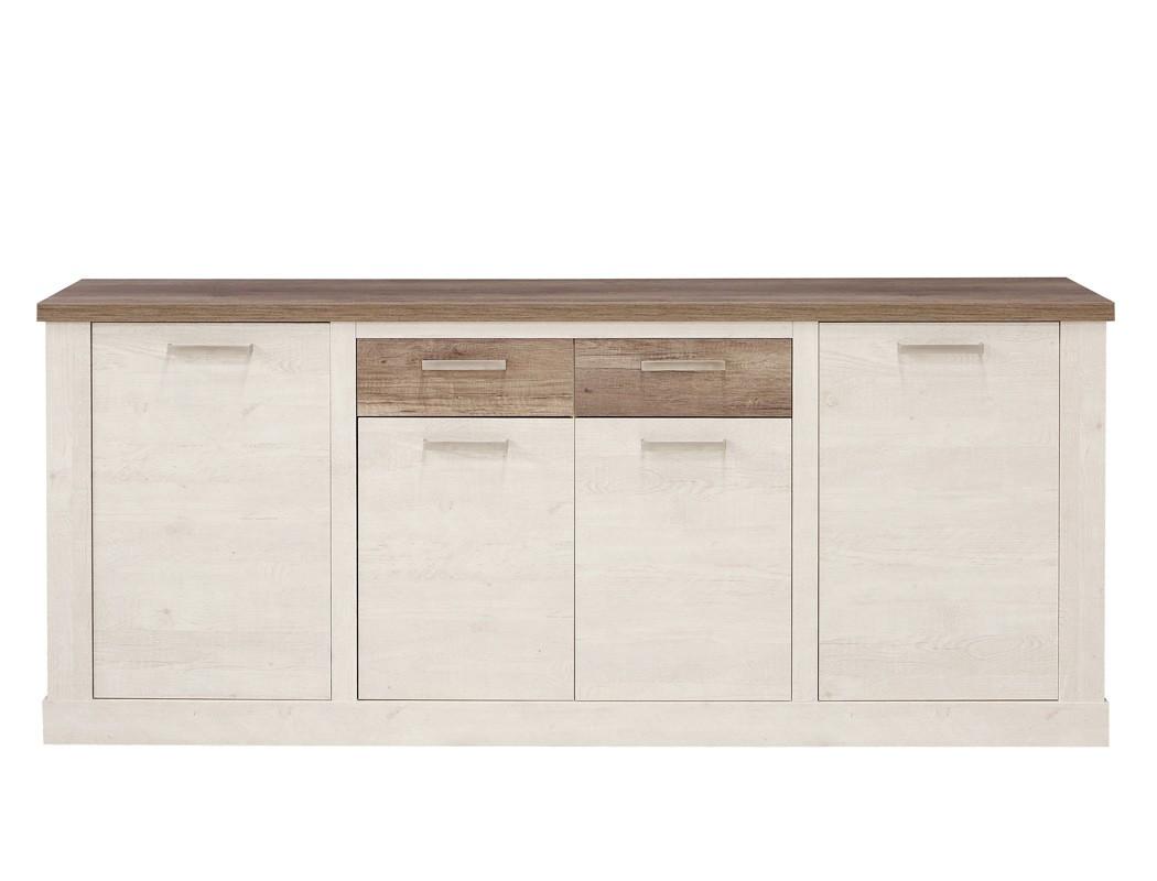 Sideboard durio 2 pinie wei 213x90x41 cm anrichte schrank for Sideboard 260 cm