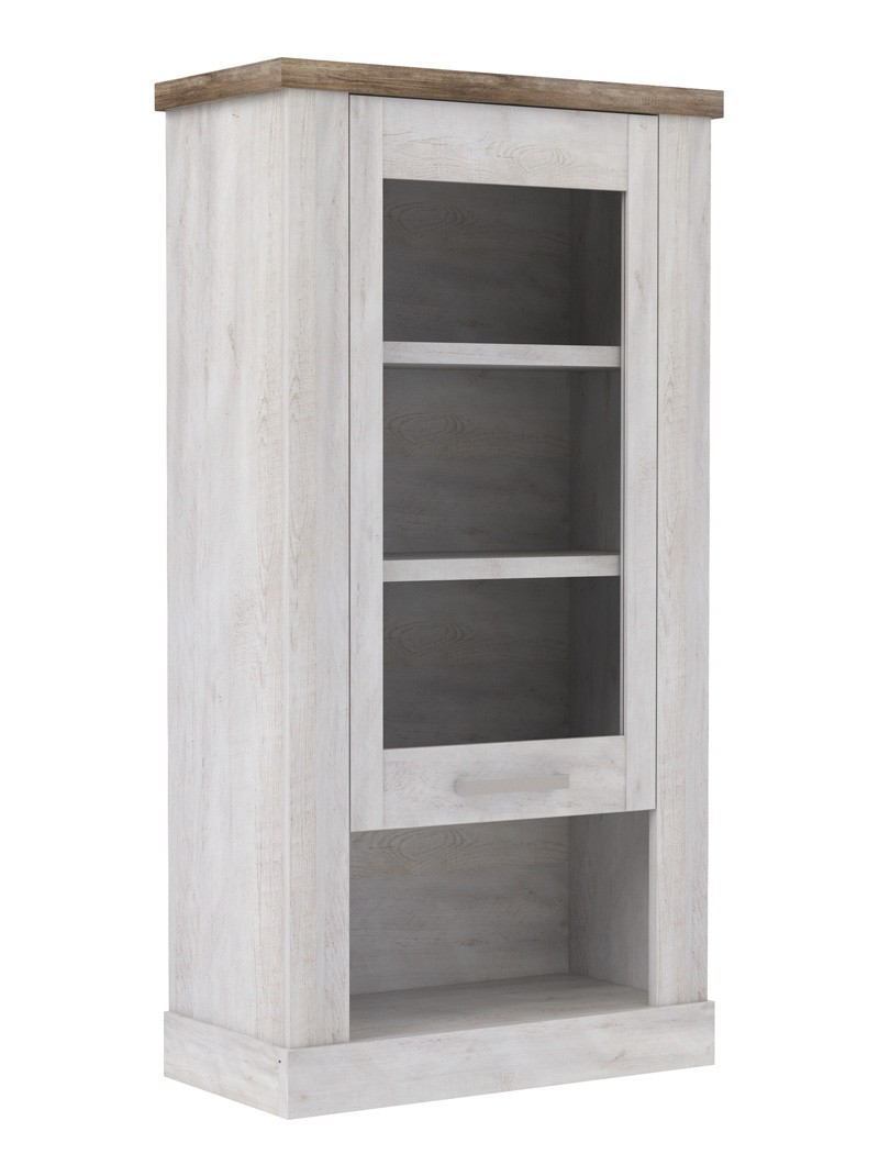 wohnwand durio 20 pinie wei 4 teilig 2x vitrine lowboard wandboard wohnbereiche wohnzimmer. Black Bedroom Furniture Sets. Home Design Ideas
