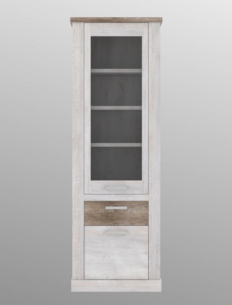 wohnwand durio 23 pinie wei 5 teilig vitrine lowboard 3x regal wohnbereiche wohnzimmer wohnw nde. Black Bedroom Furniture Sets. Home Design Ideas