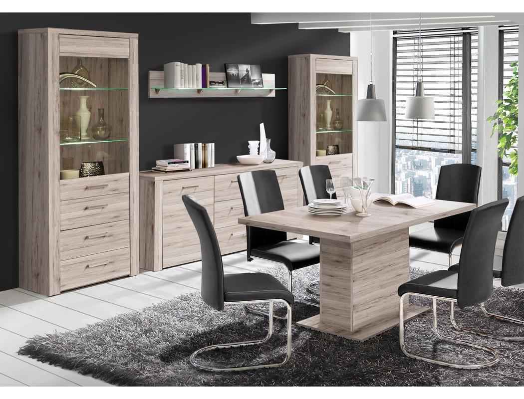Sideboard phil 1 sandeiche 197x83x41 cm anrichte schrank - Anrichte wohnzimmer ...