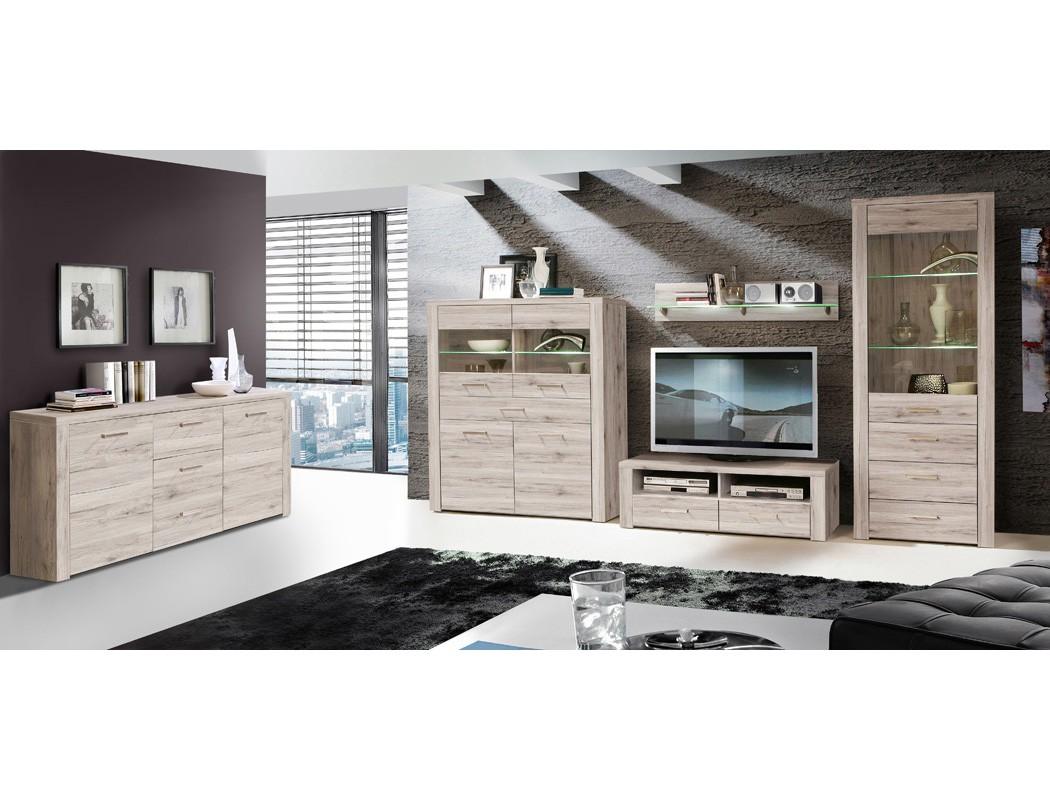 lowboard phil 8 sandeiche 127x41x52 cm tv board tv schrank tv m bel wohnbereiche wohnzimmer tv. Black Bedroom Furniture Sets. Home Design Ideas