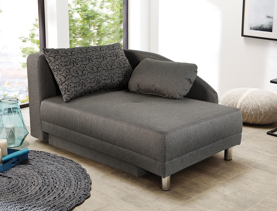 recamiere 149x90 cm braun ottomane schlafsofa couch sofa bettkasten rocco ebay. Black Bedroom Furniture Sets. Home Design Ideas