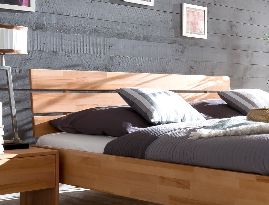 massivholzbett divico 200x200 kernbuche ge lt doppelbett lattenrost matratze ebay. Black Bedroom Furniture Sets. Home Design Ideas