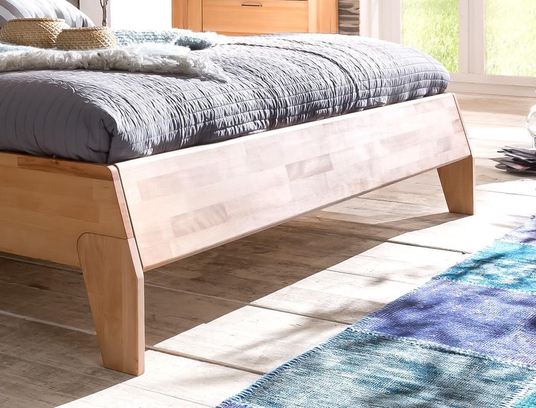 Massivholzbett divico 200x200 kernbuche ge lt doppelbett for Betten 200x200 mit lattenrost und matratze