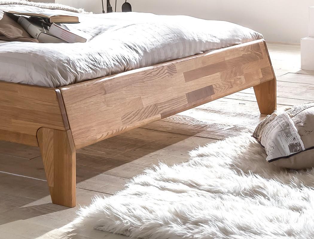 massivholzbett divico 140x200 wildeiche ge lt lattenrost matratze wohnbereiche schlafzimmer. Black Bedroom Furniture Sets. Home Design Ideas