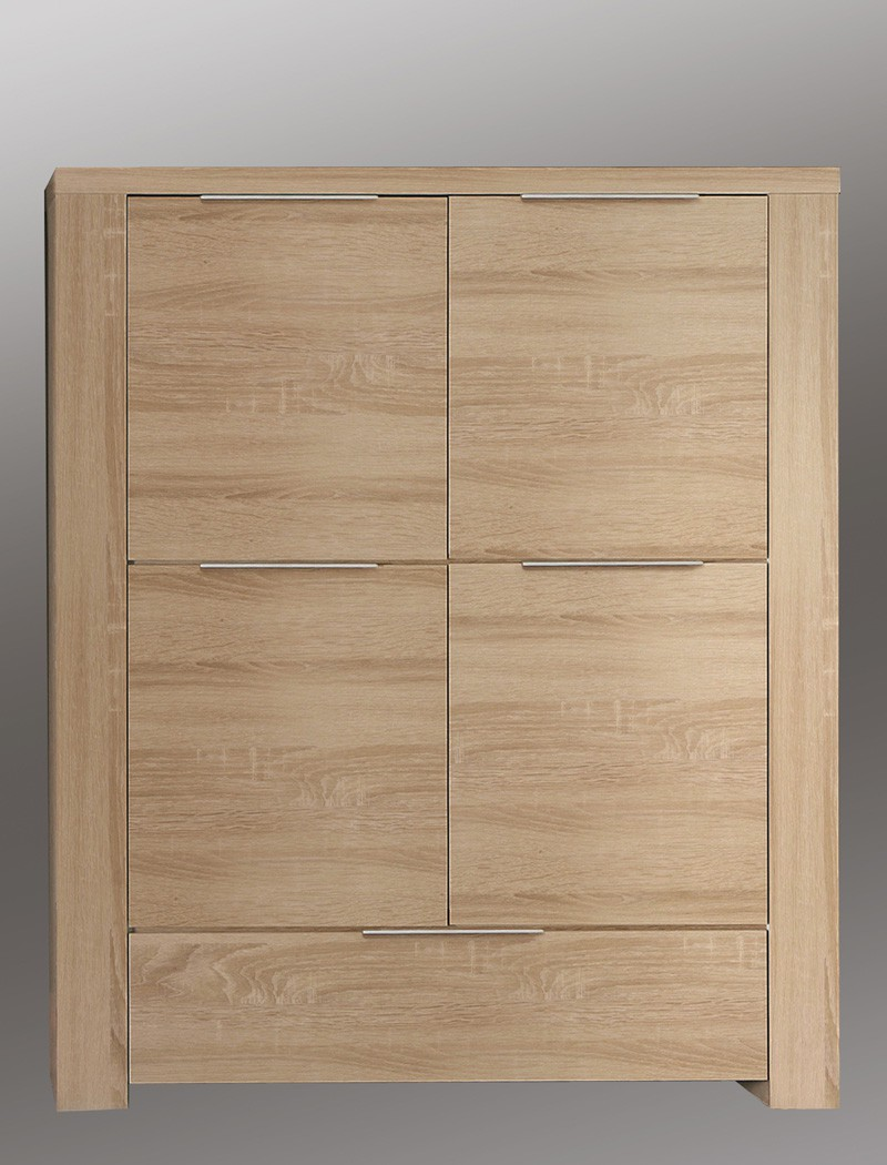 highboard calvin 5 eiche sonoma 134x156x50cm schrank. Black Bedroom Furniture Sets. Home Design Ideas