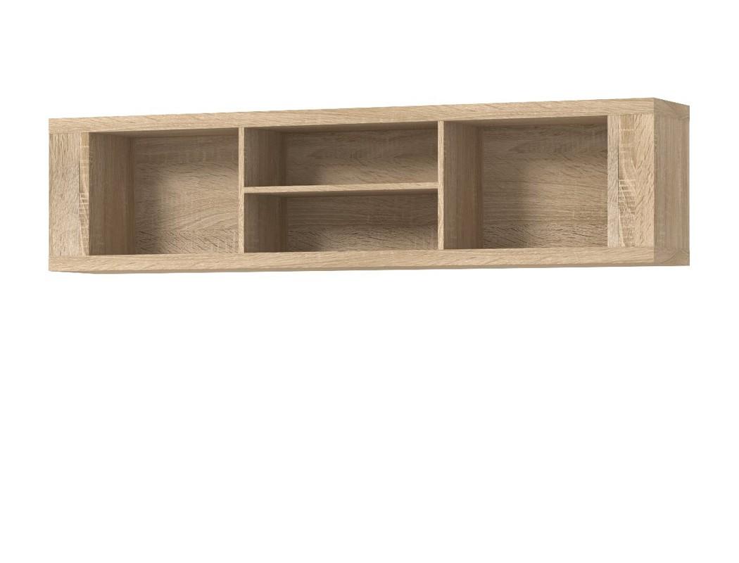 h ngeregal calvin 14 eiche sonoma 169x40x28 wandregal regal wohnzimmer wohnbereiche wohnzimmer. Black Bedroom Furniture Sets. Home Design Ideas