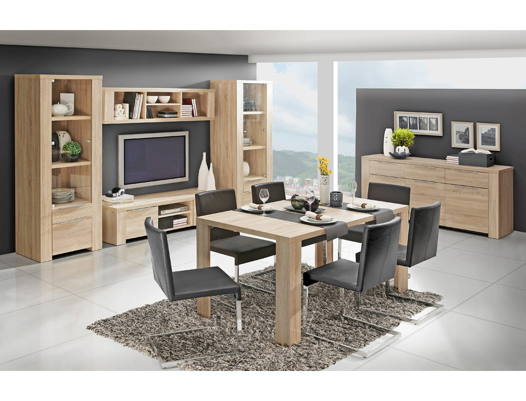 h ngeregal calvin 14 eiche sonoma 169x40x28 wandregal. Black Bedroom Furniture Sets. Home Design Ideas