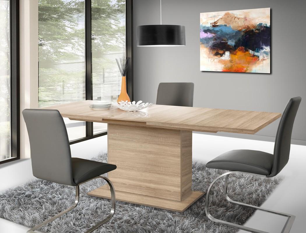 s ulentisch calvin 20 eiche sonoma 160 200 x90x77 esstisch speisetisch wohnbereiche esszimmer. Black Bedroom Furniture Sets. Home Design Ideas