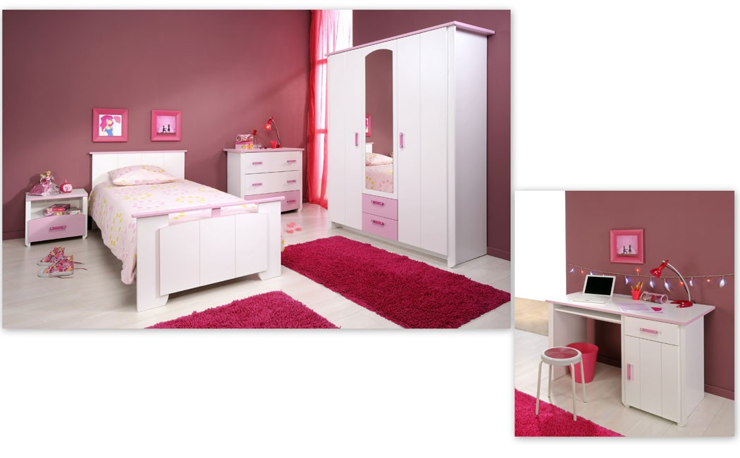 kinderzimmer beauty 13 5 teilig wei schrank bett kommode schreibtisch wohnbereiche kinder. Black Bedroom Furniture Sets. Home Design Ideas