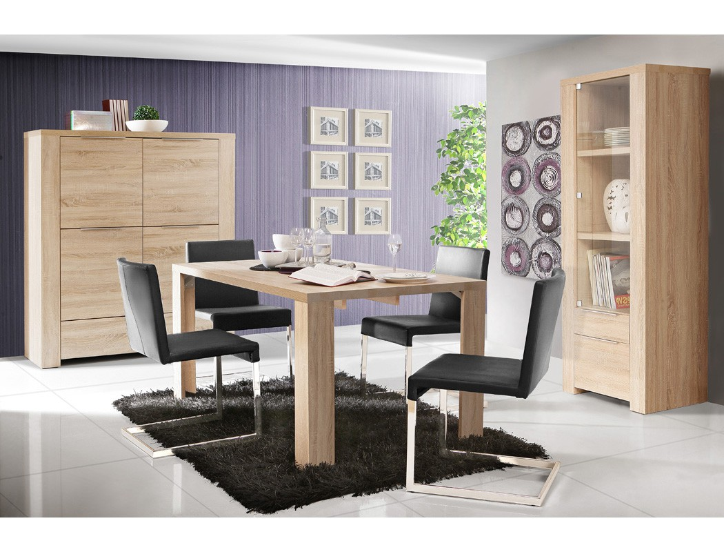esszimmer calvin 73 eiche sonoma 3 teilig esstisch vitrine highboard m bel m bel sets esszimmer sets. Black Bedroom Furniture Sets. Home Design Ideas