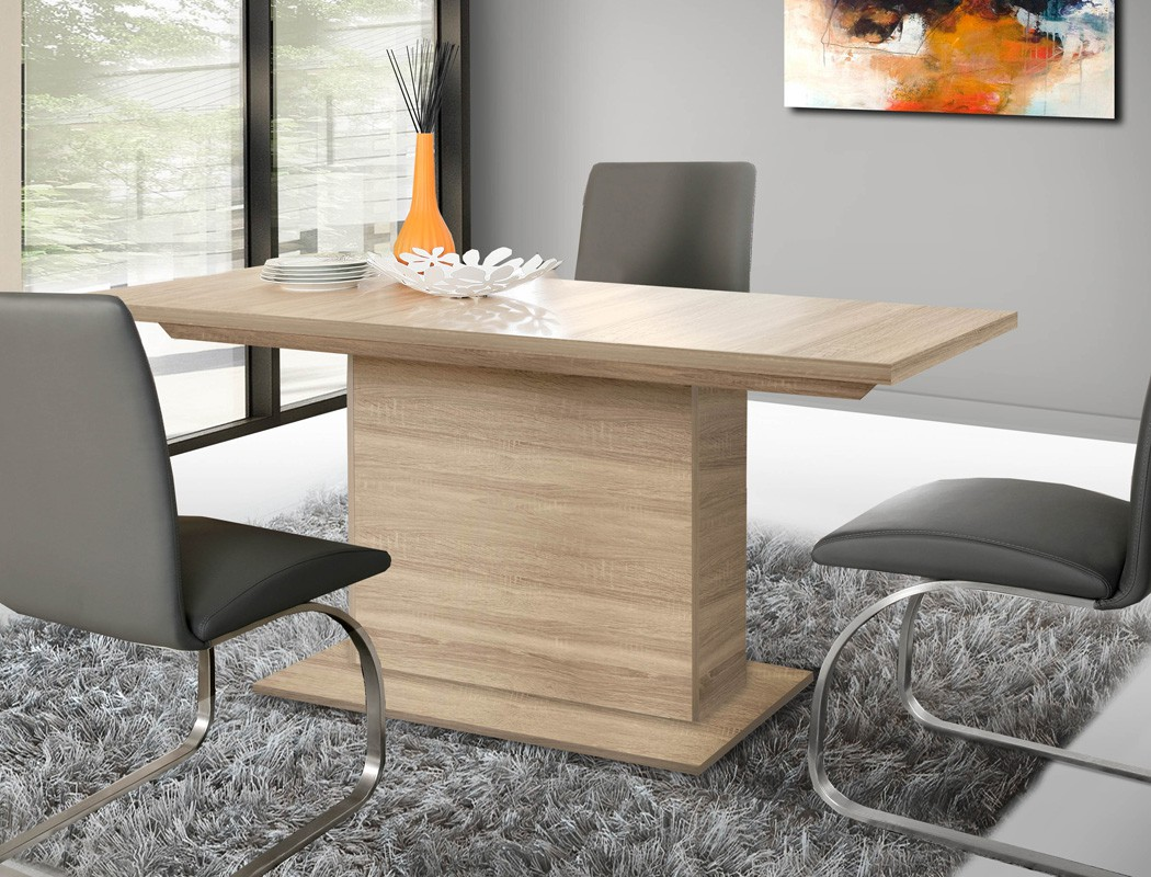 esszimmer calvin 74 eiche sonoma 4 teilig s ulentisch vitrine sideboard m bel m bel sets. Black Bedroom Furniture Sets. Home Design Ideas