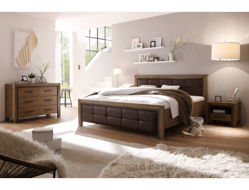 massivholzbett bett 140x200 akazie massiv holzbett jugendbett singlebett cinco ebay. Black Bedroom Furniture Sets. Home Design Ideas